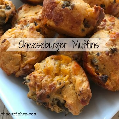 Cheeseburger Muffins -- Filled with all of your cheeseburger favorites like ground beef and ketchup, mustard, and oozy, gooey cheese they are perfect for lunch at home or on the go, or a fun party appetizer! | thatwhichnourishes.com
