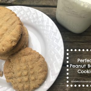 Perfect Peanut Butter Cookies -- The classic recipe you've been looking for. Buttery, peannut-y cookies with sugar criss-crosses on top | thatwhichnourishes.com