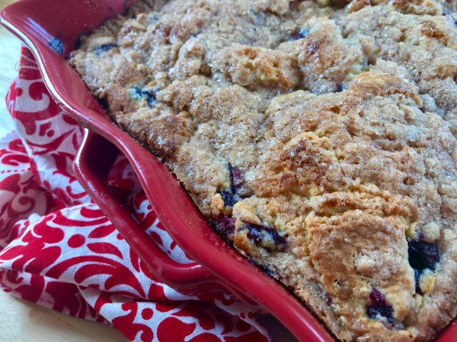 Blueberry Buckle -- Just like your grandma would have made, this is a moist, tender cake studded with blueberries and blanketed with a buttery, cinnamony streusel. | thatwhichnourishes.com