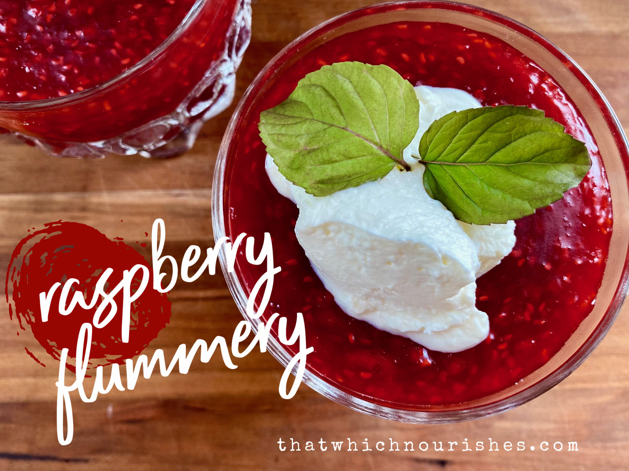 Raspberry Flummery -- A tart, berry pudding that is simply the best (and simplest) dessert that ever happened. | thatwhichnourishes.com