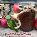 Crock Pot Apple Butter -- Spicy, delicious Apple Butter that practically makes itself in the crock pot. | thatwhichnourishes.com