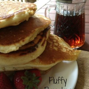 Fluffy Pancakes -- Melt in your mouth, easy to prepare, buttery, fluffy pancakes. These are the pancakes you have been looking for. | thatwhichnourishes.com