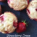 Strawberry Cream Cheese Muffins -- Cream cheese makes these muffins special with a softer, lighter texture than other muffins. Strawberries take them over the top to make them the best muffins you'll ever eat. | thatwhichnourishes.com