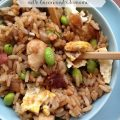 Chicken Fried Rice -- his recipe makes the fried rice you crave with all of its savory goodness plus the perfect additions of salty bacon and crunchy edamame! | thatwhichnourishes.com