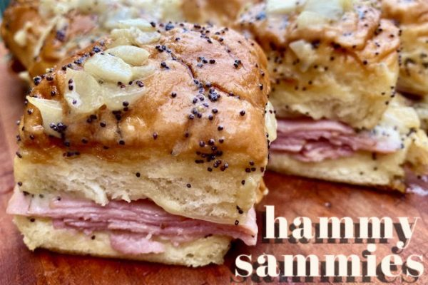 Hammy Sammies -- Cheesy perfect little ham sandwiches for a group with a simple, special sauce that you just have to taste to believe! Made on little hawaiian rolls, these little babies are the perfect combination of sweet and savory goodness. | thatwhichnourishes.com