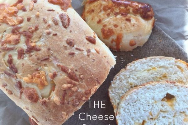 Cheese Bread -- Soft white bread studded with three goozing cheeses. This will make the most amazing bread you've ever eaten fresh, toasted, or used for sandwiches.| thatwhichnourishes.com