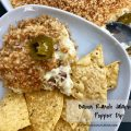 Bacon Ranch Jalapeno Popper Dip -- All the flavors you love in jalapeño poppers deliciously combined into a warm, crunchy, spicy, creamy dip | thatwhichnourishes.com