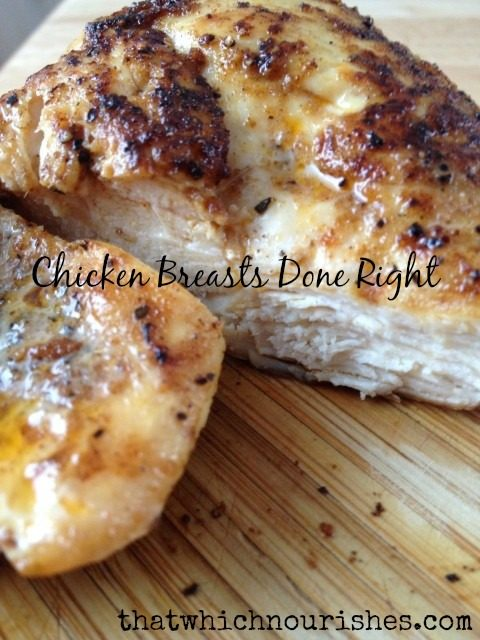 chicken breasts done right text