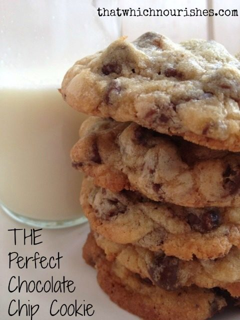 THE Perfect Chocolate Chip Cookie -- The perfect chocolate chip cookie. Enough said. | thatwhichnourishes.com