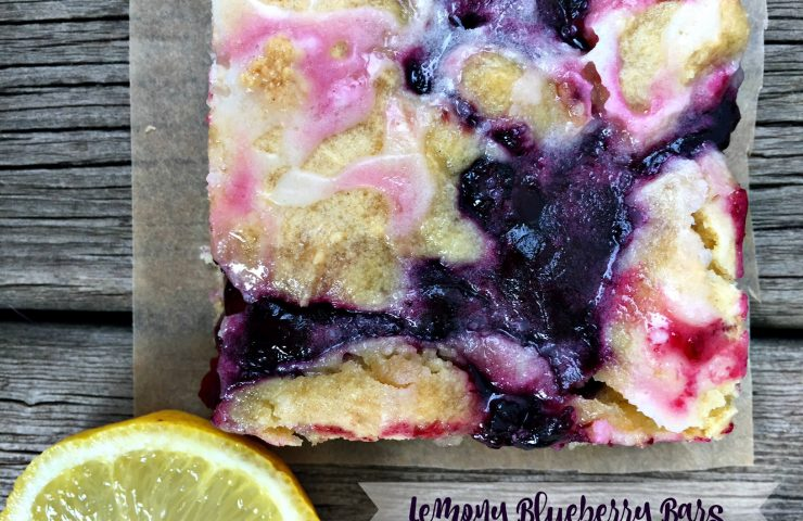 Lemony Blueberry Bars (and how to easily freeze blueberries)