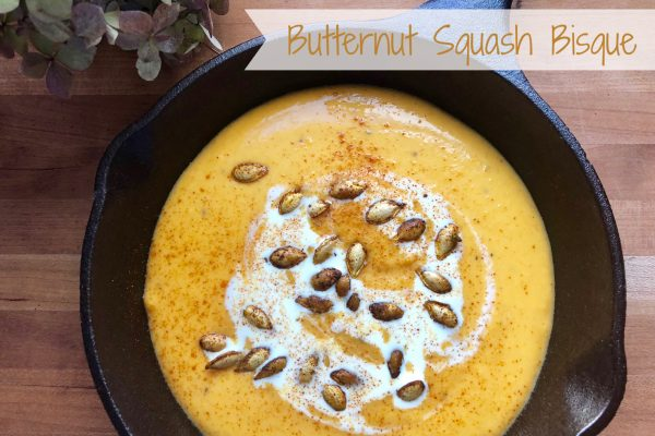 Butternut Squash Bisque -- Velvety smooth and savory with warm spices, this Butternut Squash Bisque is rich and elegant yet easy to prepare. | thatwhichnourishes.com