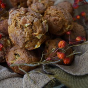 Pumpkin Streusel Muffins with Apple