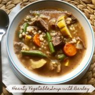 Hearty Vegetable Soup with Barley