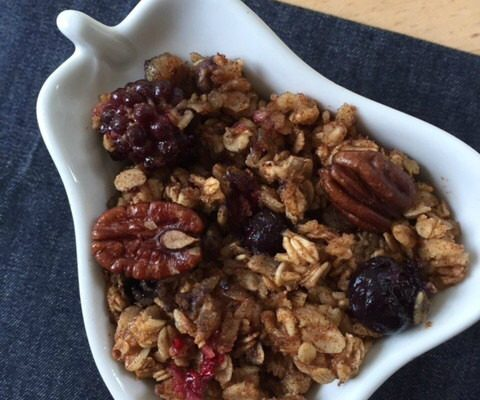 Hearty Baked Oatmeal -- This oatmeal is baked with fruit, nuts, cinnamon and spice and everything nice and makes one spectacular start to a day.   thatwhichnourishes.com