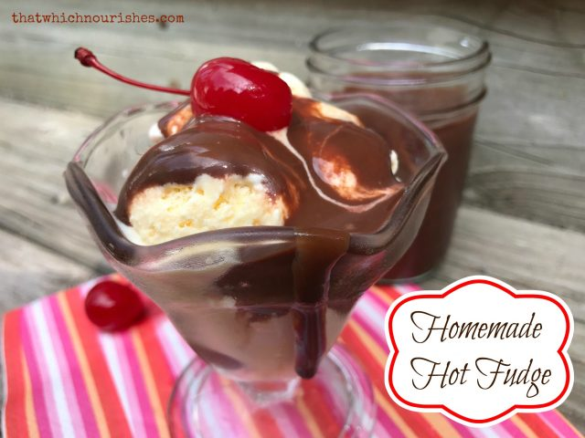 Homemade Hot Fudge -- Rich, decadent chocolatey goodness made in minutes with staple pantry ingredients. Rumored to cure PMS, crabbiness, and awful days, this will be the only chocolate you need | thatwhichnourishes.com