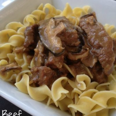 Beef Stroganoff -- Classic stroganoff made easy in the crockpot or stovetop. Tender beef in a rich gravy served over noodles or polenta. | thatwhichnourishes.com