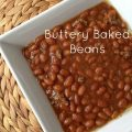 Buttery Baked Beans -- These Buttery Baked Beans are savory and buttery and studded with bits of ground beef and seasonings, these beans are just perfect in their own way. | thatwhichnourishes.com