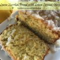 Lemon Zucchini Bread with Lemon Coconut Glaze -- Impossibly soft lemon bread blanketed with a tart, lemony-coconut glaze. Here's an easy and delicious way to use up that garden zucchini! | thatwhichnourishes.com