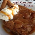 Apple Cinnamon Brownies -- Cinnamon and juicy apples make these moist brownies a perfect dessert, just add ice cream! | thatwhichnourishes.com