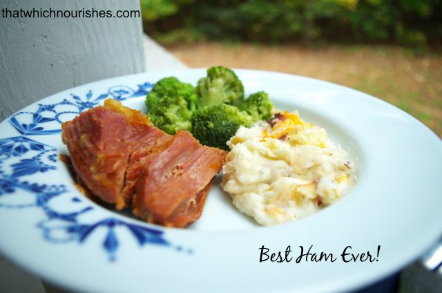 Best Ham Ever -- two little ingredients and you have rich, juicy ham that you'l never forget | Best Ham Ever -- two little ingredients and you have rich, juicy ham that you'l never forget | thatwhichnourishes.com