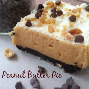 Peanut Butter Pie For a Crowd --layers of peanut butter and cream cheese and chocolate make this pie delectable. It's size makes it go farther than usual! | thatwhichnourishes.com