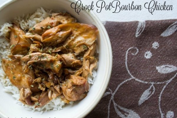 Crock Pot Bourbon Chicken -- The crock pot meal you dream of. Chicken thighs bathe in flavors that will make your mouth sing and your dinner easy as can be. Make the whole family happy with this meal!   thatwhichnourishes.com