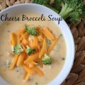 Cheese Broccoli Soup -- Cheesy, smooth, rich soup that is simple to make, and elegant to serve. | thatwhichnourishes.com