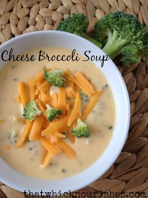 cheese broccoli soup text
