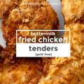 Buttermilk Fried Chicken Tenders -- All of the crispy, seasoned pleasure you want from perfectly fried chicken with none of the guilt. Read more for our secret! |thatwhichnourishes.com