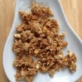 Maple Cinnamon Granola -- Somewhere between crunchy and chewy, this granola is packed with honey, almonds, oats, coconut oil, and cinnamon -- and a ton of nourishment. | thatwhichnourishes.com