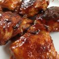 Best BBQ Chicken Thighs -- Juicy chicken thighs dripping with BBQ sauce perfection. Baked so there's no grill-guessing! | thatwhichnourishes.com