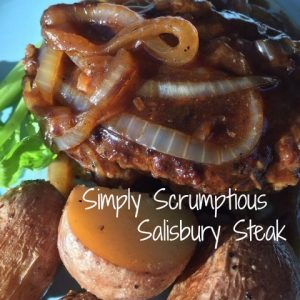 Simply Scrumptious Salisbury Steak -- The worlds needs this steak. Wholesome, nutritious, savory, real food your grandma would make you if she could. This is steak smothered in goodness. | thatwhichnourishes.com