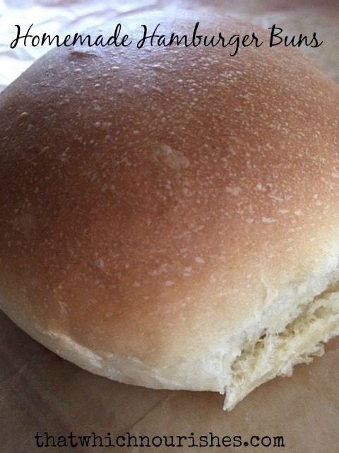 Homemade Hamburger Buns -- It's easier than you think to whip up a batch of buttery, soft homemade hamburger (or hotdog) buns and take your burgers over the top to outstanding |thatwhichnourishes.com