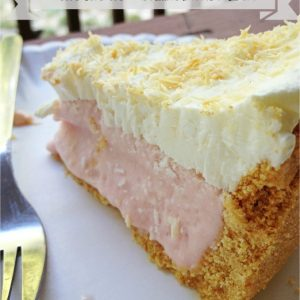 Luscious Lemonade Pie -- A tart, creamy lemonade flavored filling is piled high inside a buttery graham cracker crust and kept in the freezer for that day when you just need perfect pie. | thatwhichnourishes.com