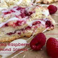 Glazed Raspberry Almond Scones