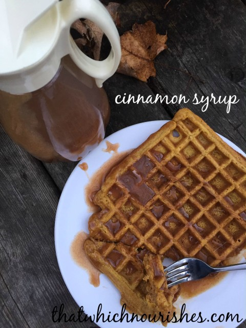 Cinnamon Syrup -- Somewhere between a buttery caramel sauce and a cinnamon syrup, this stuff is drool worthy for sure. | thatwhichnourishes.com