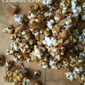 Homemade Caramel Corn --Hot, homemade caramel drizzled over freshly popped popcorn and baked until hot and crunchy|thatwhichnourishes.com