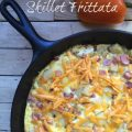 Skillet Frittata -- perfectly packed with flavorful veggies, savory meat, and surrounded by fluffy eggs and sprinkled with cheese. Prepared in a cast iron skillet, and ready in less than 20 minutes! | thatwhichnourishes.com