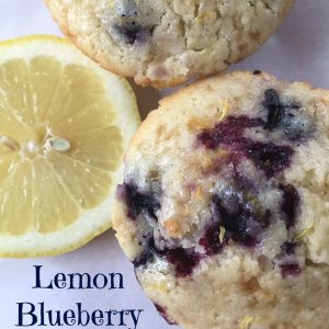 Lemon Blueberry Muffins -- If Lemon Bars and blueberry muffins had a baby, this would surely be it. Super moist muffins packed with tart lemon flavor. | thatwhichnourishes.com