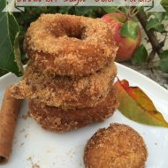 Cinnamon Sugar Cider Donuts (fried in coconut oil)