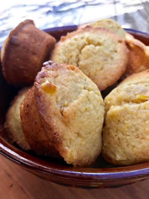 Sweet Corn Muffins -- Moist, melt-in-your-mouth corn muffins sweetened just a bit with honey.  These are the ideal accompaniment to a bowl of chili or any Mexican meal.  thatwhichnourishes.com