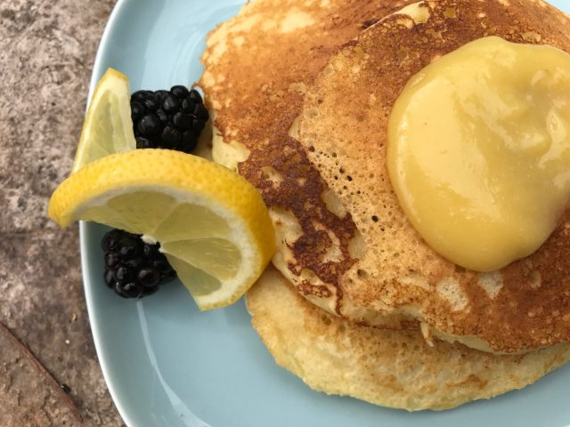 Lemon Ricotta Pancakes are melt-in-your-mouth tender pancakes that are almost crepe-like with a hint of lemon. This is how to put a delightful spin on breakfast or brunch.   thatwhichnourishes.com