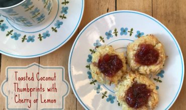 Toasted Coconut Thumbprints with Cherry or Lemon