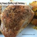 One Pan Crispy Chicken and Potatoes -- The easiest and best thing you've eaten lately and it's made on one pan with less than five ingredients. Crispy, juicy chicken and tender potatoes with crisp edges packed with flavor and goodness. Nourishment at its simplest and finest. | thatwhichnourishes.com
