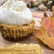 Mini Maple Pumpkin Cheesecakes