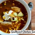 Southwest Chicken Soup -- All the nourishment of a rich chicken soup with all the flavors and spice of the Southwest, this Chicken Tortilla Soup is a hearty, nutritious meal. | thatwhichnourishes.com
