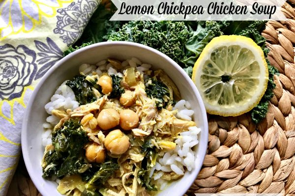 Lemon Chickpea Chicken Soup -- Filled with warming spices like turmeric, ginger, and cumin, and the additions of a lemony bone broth, this soup is one that satisfies your need for goodness and nourishment. | thatwhichnourishes.com