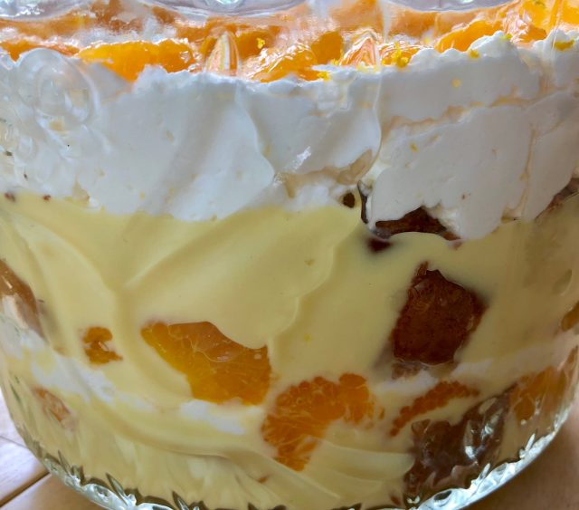 Orange Vanilla Trifle -- Layers of from-scratch goodness in the form of orange pound cake, vanilla pudding, and freshly whipped cream come together to make a creamy, citrusy show-stopping desert. | thatwhichnourishes.com