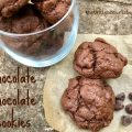 Chocolate Chocolate Cookies -- Chewy, fudgy brownies in easy-to-make cookie form. A double dose of chocolate to make any day a bit better. | thatwhichnourishes.com