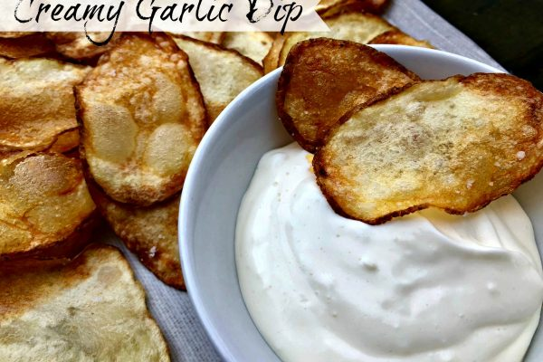 Creamy Garlic Dip -- Perfect in its simplicity, this three ingredient dip is classy and delicious. | thatwhichnourishes.com